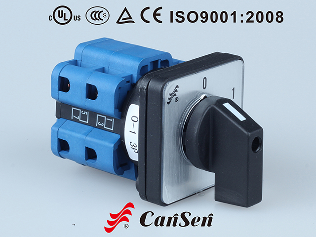 ROTARY CAM SWITCH, Main Switch LW26-32F 0-1 3P Panel Mount